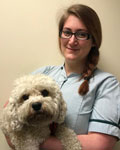 Michelle Ashby, patient care assistant at Avenue Road Veterinary Surgeons